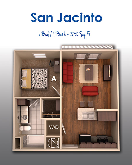530 sq. ft. A floor plan
