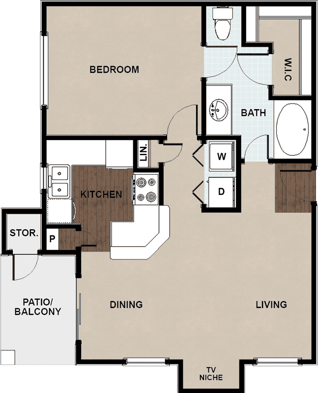 656 sq. ft. A GAR floor plan
