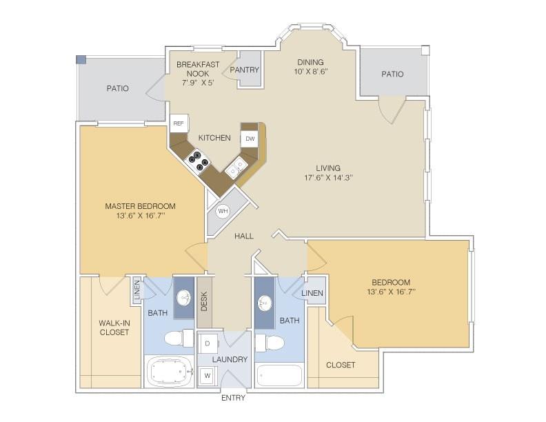 1,323 sq. ft. B2L/GAR floor plan