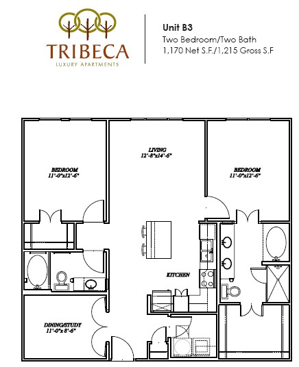 1,170 sq. ft. Grand floor plan