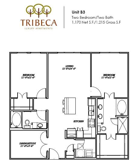 1,170 sq. ft. Grand floor plan