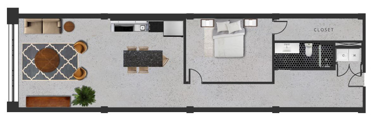 1,524 sq. ft. O floor plan
