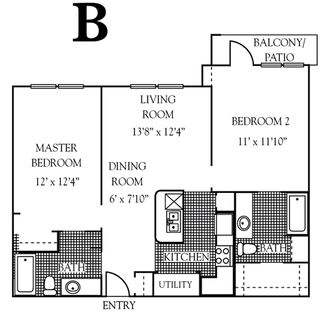 952 sq. ft. to 1,065 sq. ft. 30% floor plan