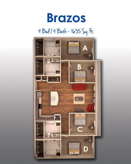 1,628 sq. ft. floor plan