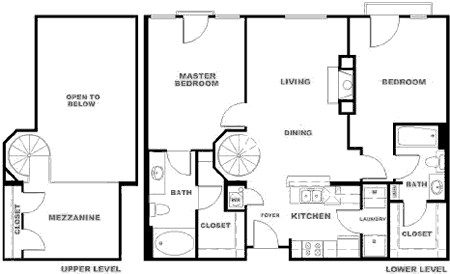 1,234 sq. ft. BXMR floor plan