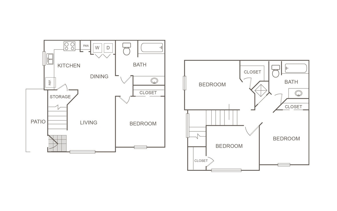 1,224 sq. ft. 60% floor plan