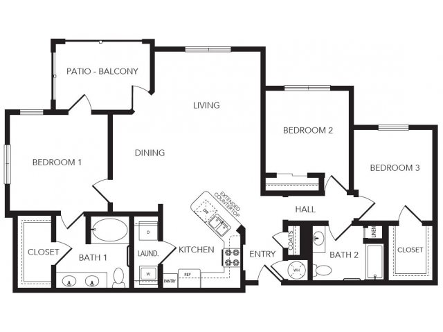1,398 sq. ft. Kirkwood floor plan