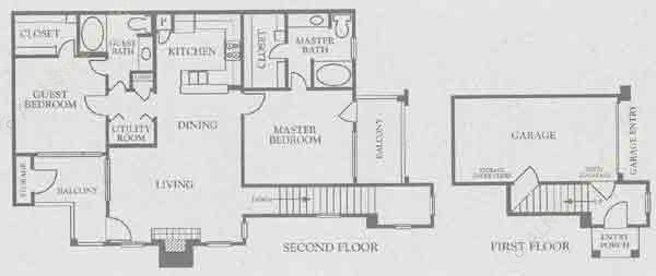1,118 sq. ft. B2/ B3 floor plan