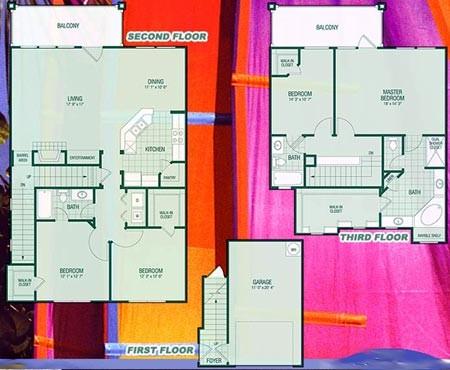 2,293 sq. ft. D2 Concordia floor plan