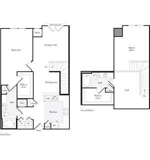 1,342 sq. ft. B3 floor plan