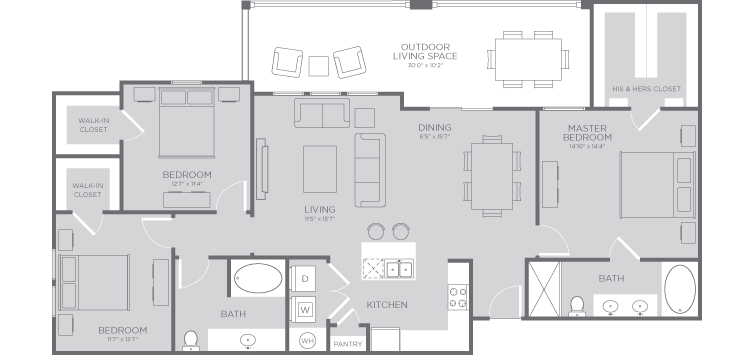 1,534 sq. ft. Seahorse floor plan