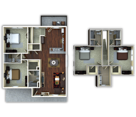 1,845 sq. ft. Thornberry floor plan