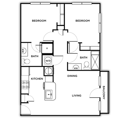 866 sq. ft. Sienna floor plan