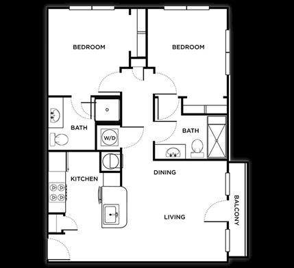 866 sq. ft. Sienna floor plan