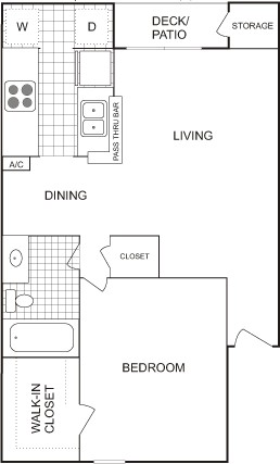 656 sq. ft. SMALL floor plan