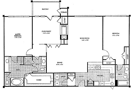 1,661 sq. ft. B3 floor plan