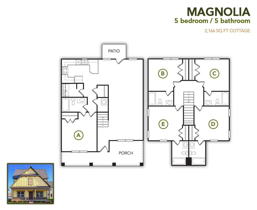 2,166 sq. ft. Magnolia floor plan