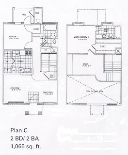 1,065 sq. ft. C/MKT floor plan