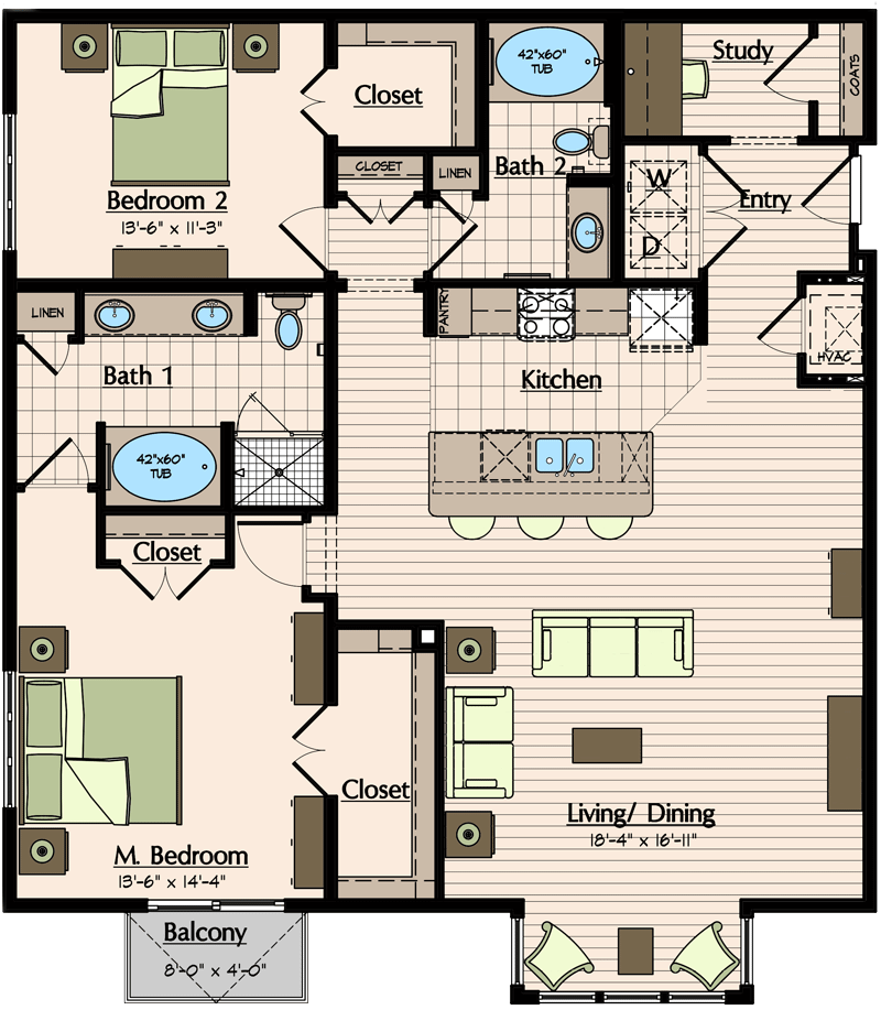 1,531 sq. ft. floor plan
