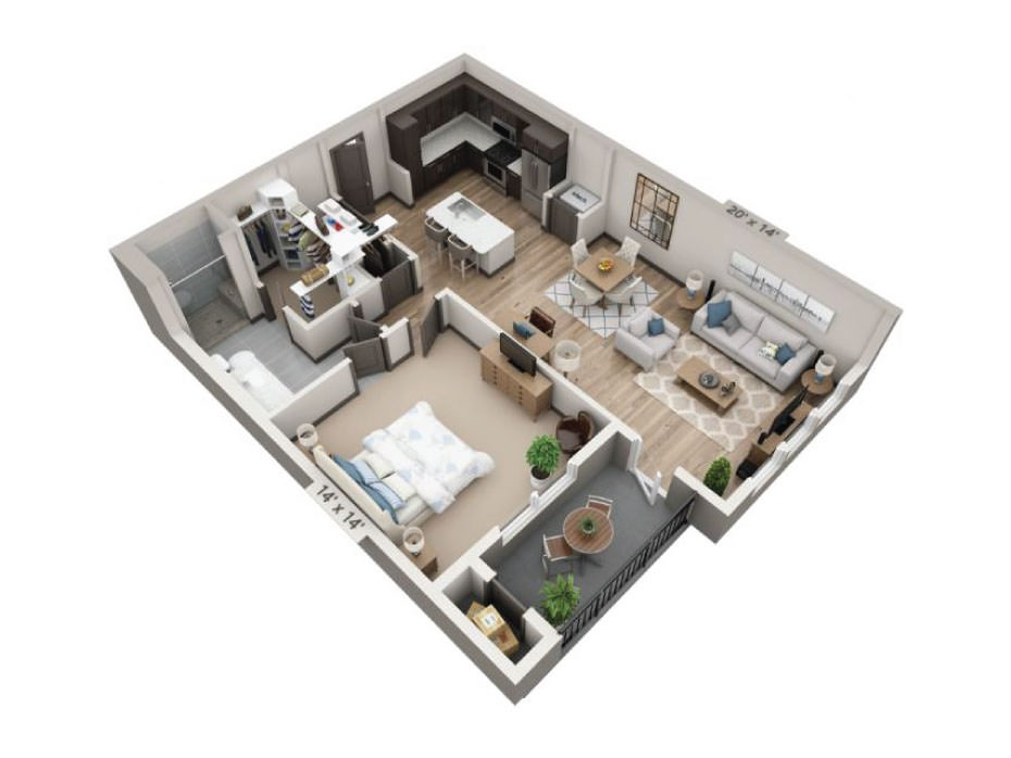 932 sq. ft. Frio floor plan
