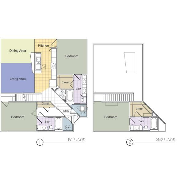 1,623 sq. ft. MacDougal (C3) floor plan