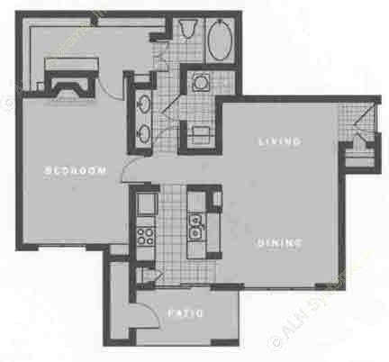 952 sq. ft. A3 floor plan