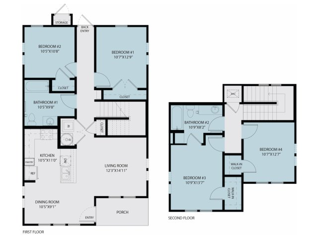 1,441 sq. ft. Douglas 50% floor plan