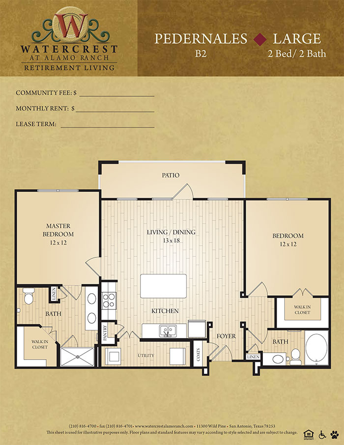 1,080 sq. ft. Pedernales floor plan