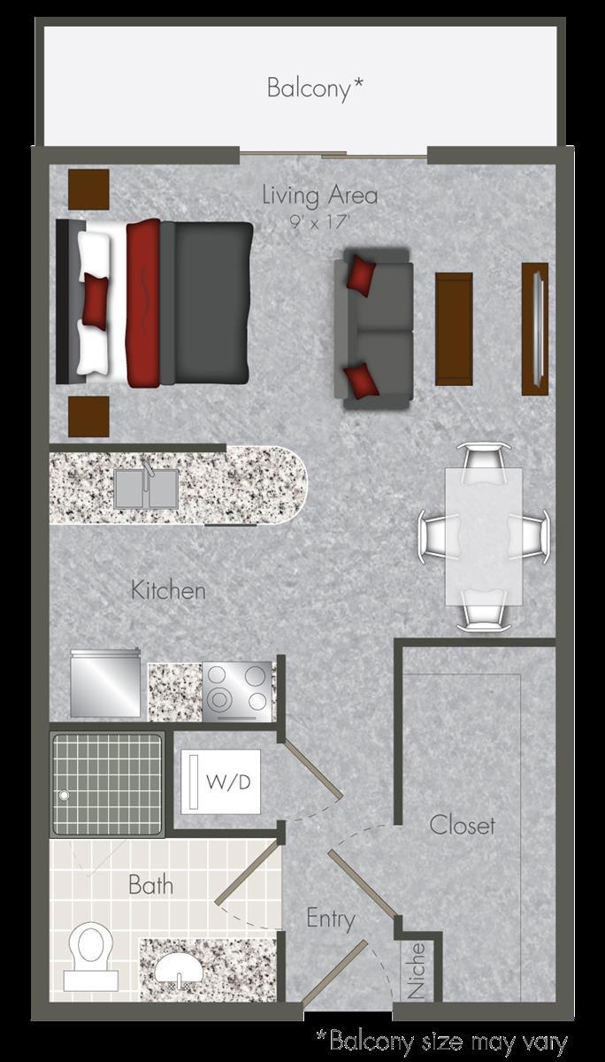 467 sq. ft. S-X1 floor plan