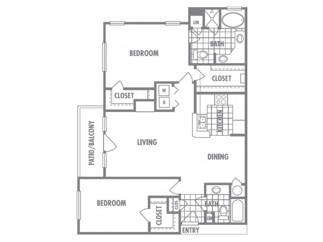 1,310 sq. ft. G floor plan