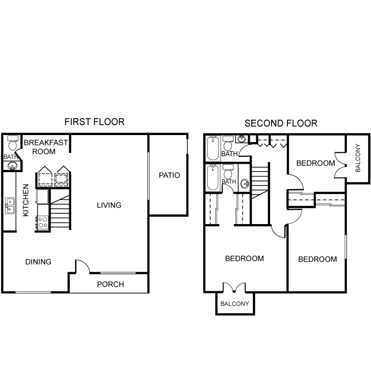 1,453 sq. ft. C1 floor plan