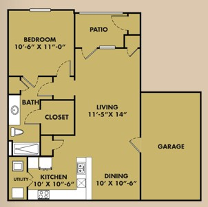 813 sq. ft. A1 Garage floor plan