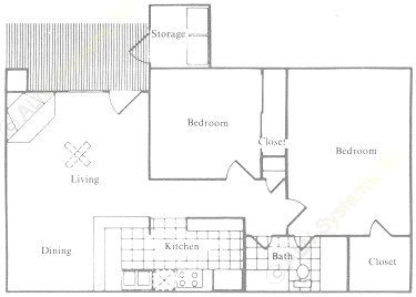 781 sq. ft. floor plan