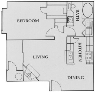 652 sq. ft. City Walk:A2 floor plan