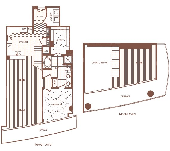 1,522 sq. ft. PH1 floor plan