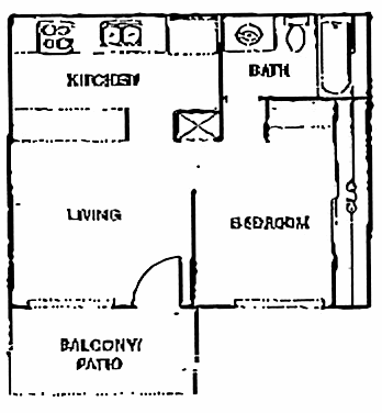 452 sq. ft. A floor plan