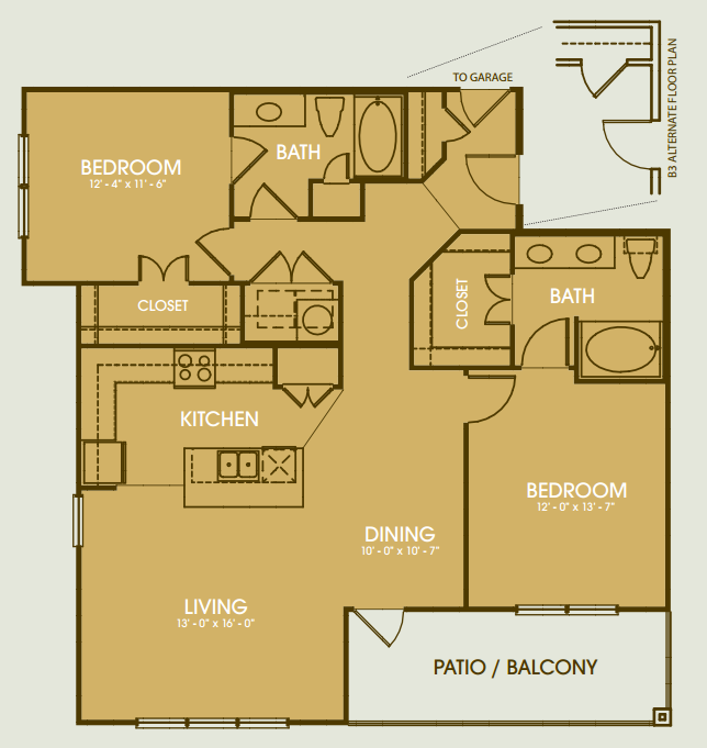 1,424 sq. ft. B6 floor plan