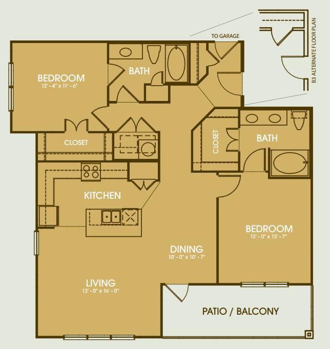 1,424 sq. ft. B6 floor plan