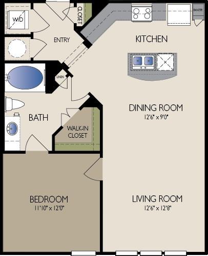 785 sq. ft. Vancouver floor plan