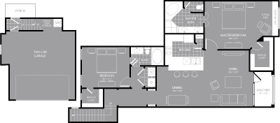 1,381 sq. ft. B6 floor plan