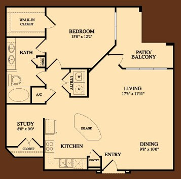 1,134 sq. ft. Driskill floor plan