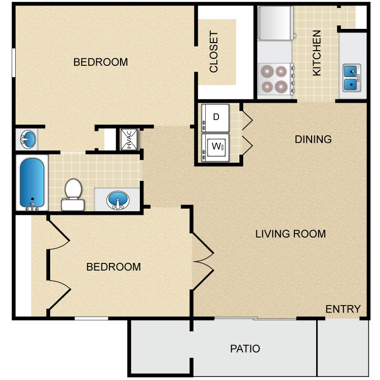 793 sq. ft. floor plan