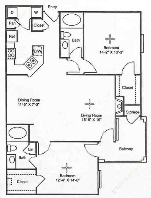 1,203 sq. ft. Naples floor plan