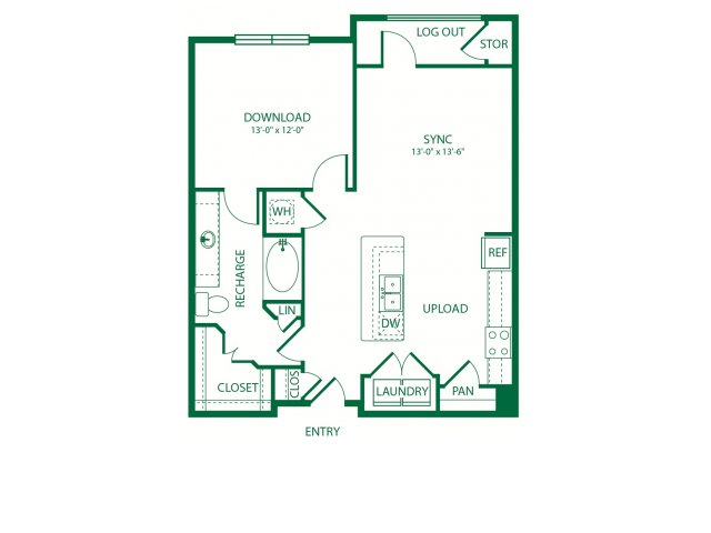793 sq. ft. A4B Geolocation floor plan