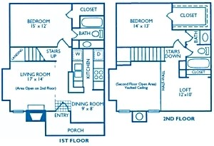 1,229 sq. ft. Foxboro floor plan