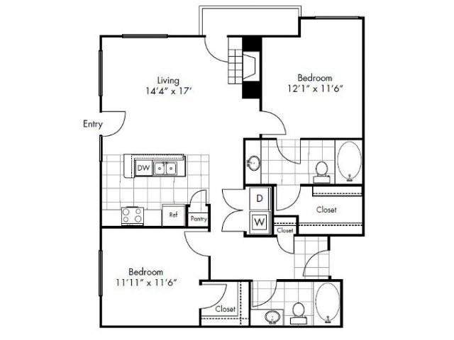 1,099 sq. ft. to 1,188 sq. ft. Tyler floor plan