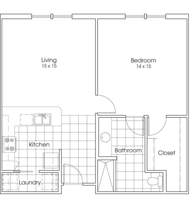 826 sq. ft. Lone Star floor plan
