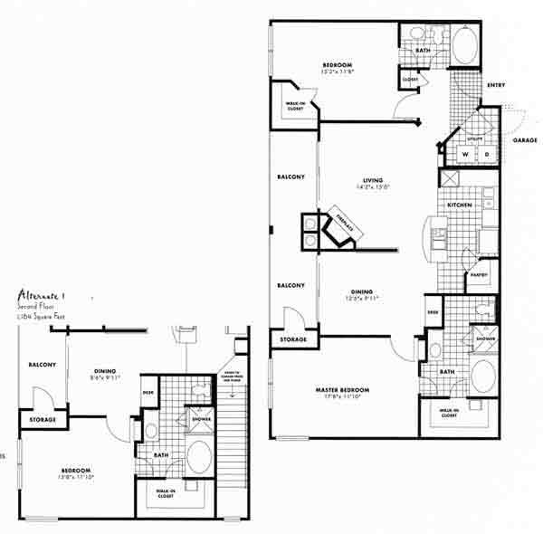 1,228 sq. ft. D7 floor plan