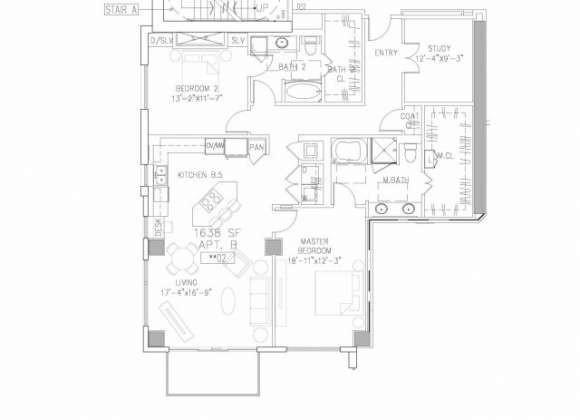 1,638 sq. ft. B9 floor plan