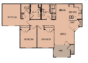 1,193 sq. ft. 60% floor plan